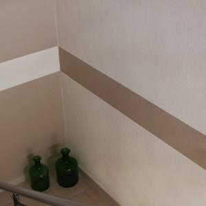 Mehrfarbige Gestaltung eines Treppenhauses