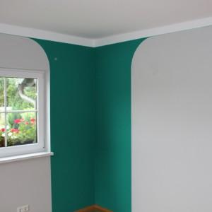 Farbgestaltung Wand u. Decke
